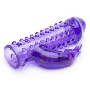 BASICS Vibrating Penis Sleeve with Clitoral Rabbit Vibrator